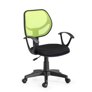 Swiveling Black Mesh Mid-back Task Chair