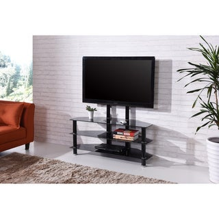 3-shelf Tempered Glass Stand with 46-inch TV Mount