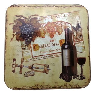Le Chef Wine Cork Back Coaster Set of Two