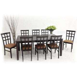 Warehouse of Tiffany 9-piece Latte Justin with Juno Dining Furniture Set