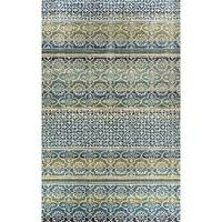 Eternity Striped Moroccan Rug - 6.7' x 9.6'