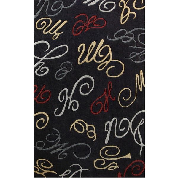 Symphony Abstract Swirls Area Rug - 6'7 x 9'6