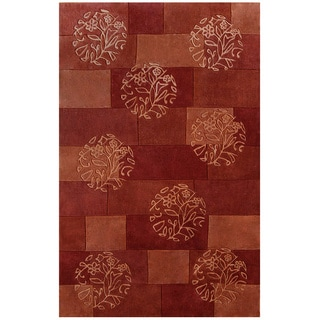 Hand-tufted Symphony Floral Circles Rug (5' x 8')