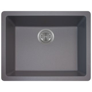 Polaris Sinks P808 Silver AstraGranite Single Bowl Kitchen Sink