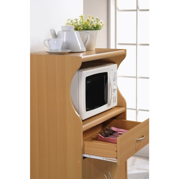 Microwave 2 Door Cart Stand   Free Shipping Today   Overstock.com   16243434