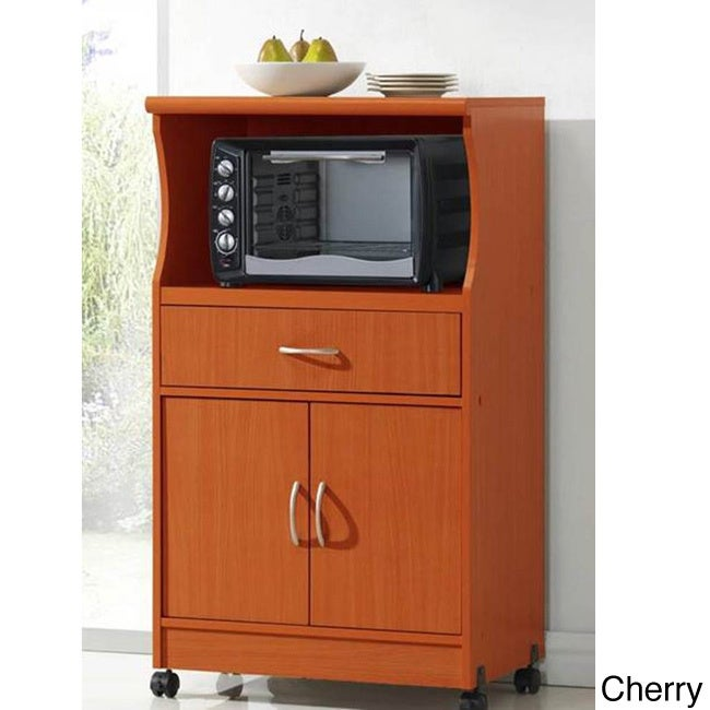Kitchen Shelf For Microwave: Microwave Cart Stand Portable Storage Solution Cabinet