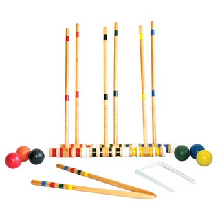 Beginner Six Player Wood Croquet Set
