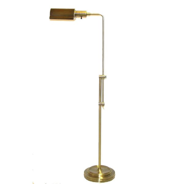 Aged Brass Apothecary Adjustable Floor Lamp Free