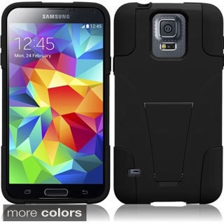 INSTEN Colors Hybrid T Stand Hard Plastic Cover Phone Case Cover for Samsung Galaxy S5 SV