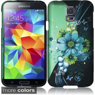 INSTEN Designed Pattern Rubberized Hard Plastic Cover Phone Case Cover for Samsung Galaxy S5/ SV
