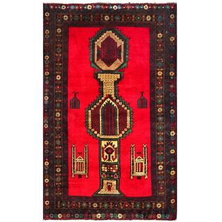 Handmade One-of-a-Kind Balouchi Wool Rug (Afghanistan) - 2'10 x 4'9