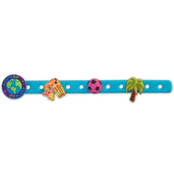Lulu Blue Charm Bracelet with Three Charms