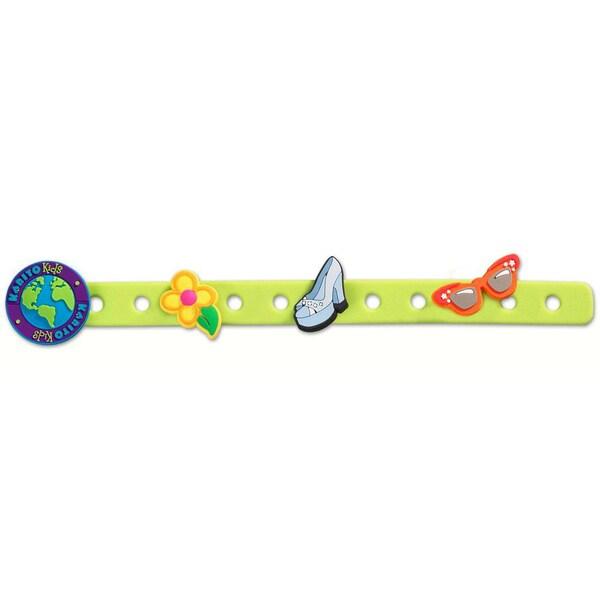 Gia Green Charm Bracelet with Three Charms