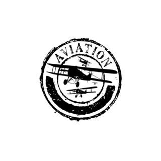 Aviation Post Stamp Vinyl Wall Art