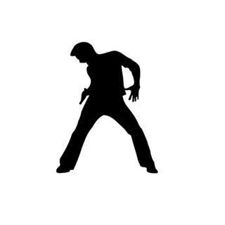 Dancing Man Vinyl Wall Art