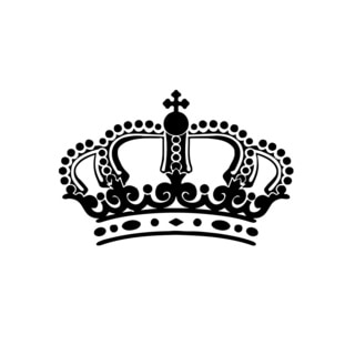 Royal crown vinyl wall art free shipping on orders over for Overstock free returns