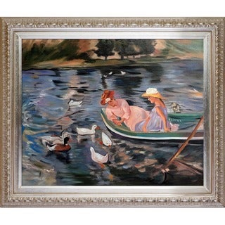 Mary Cassatt 'Summertime' Hand Painted Framed Canvas Art