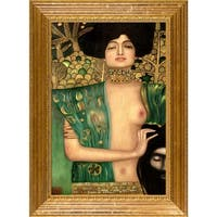 Gustav Klimt 'Judith Klimt I' Hand Painted Framed Canvas Art