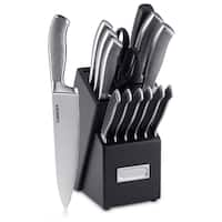 Cuisinart Classic Graphix Collection 15-Piece Cutlery Block Set, Black/Stainless