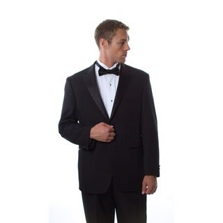Bolzano Uomo Collezione Men's Black 2-button Tuxedo Suit (Option: 42l)