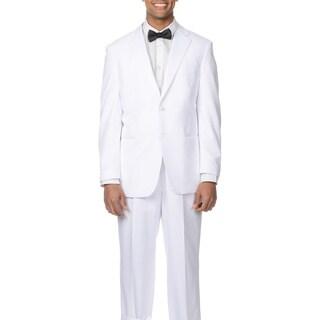 Bolzano Uomo Collezione Men's White 2-button Tuxedo Suit