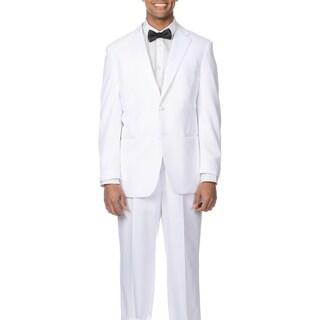 Bolzano Uomo Collezione Men's White 2-button Tuxedo Suit (More options available)