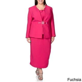 Giovanna Signature Women's Plus-size 3-piece Skirt Suit