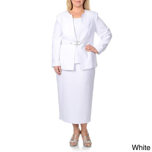 Shop Giovanna Signature Women\'s Plus-size 3-piece Skirt Suit ...