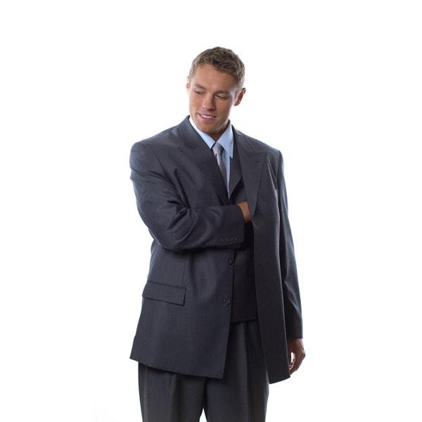 Caravelli Fusion Men's Grey 3-piece Vested Suit