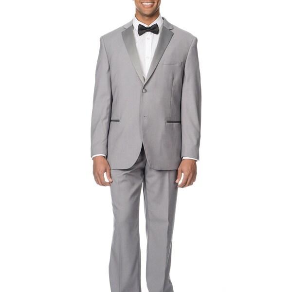 Shop Caravelli Men's Slim Fit Light Grey Tuxedo