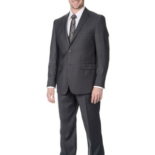 West End Men's Young Look Slim Fit 2-button Grey Suit