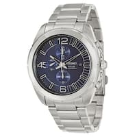 Seiko Men's SSC201 'Core' Stainless Steel Navy Chronograph Watch