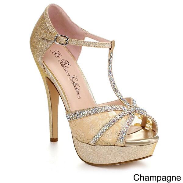 a979983785 Shop Blossom Vice-85 Women's Fabric Lace Vamp Platform Heels - Free ...