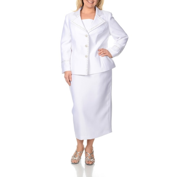 White Suits & Suit Separates: comfoisinsi.tk - Your Online Suits & Suit Separates Store! Get 5% in rewards with Club O! Giovanna Signature Women's Solid Polyester Plus-size 2-piece Skirt Suit. 25 Reviews. SALE. Giovanna Signature Women's Plus 2-piece Skirt Suit with Broach. 7 .