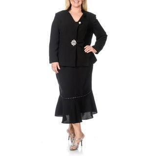 Giovanna Signature Women's Plus-size 2-piece Skirt Suit