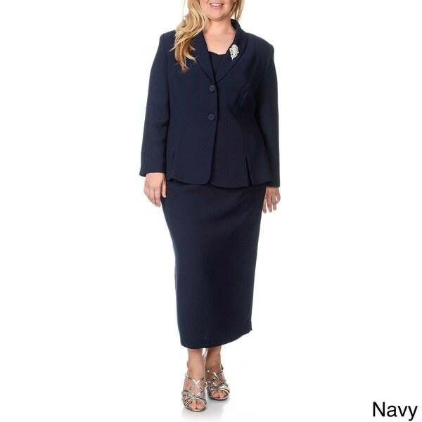 Giovanna Signature Women S Plus Size 2 Piece Skirt Suit