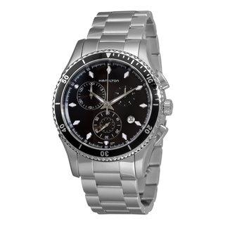 Hamilton Men's H37512131 Seaview Stainless Steel Chronograph Watch