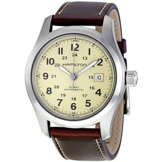 Hamilton Men's H70555523 Khaki Field Automatic Silvertone Watch|https://ak1.ostkcdn.com/images/products/9048614/Hamilton-Mens-H70555523-Khaki-Field-Automatic-Silvertone-Watch-P16245448.jpg?impolicy=medium