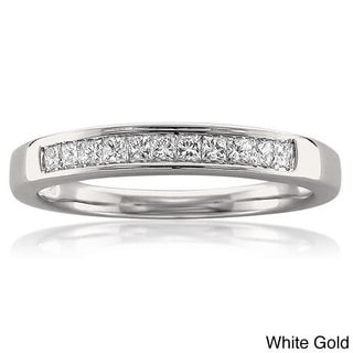 Montebello 14k White or Yellow Gold 1/4ct TDW White Diamond Wedding Band