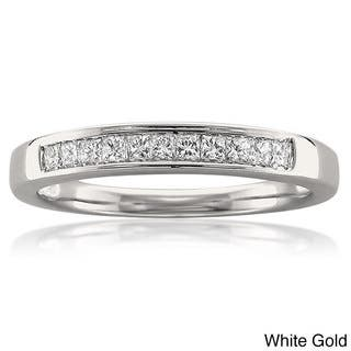 Montebello 14k White Or Yellow Gold 1 4ct TDW Diamond Wedding Band