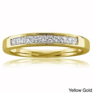 Montebello 14k White or Yellow Gold 1/4ct TDW White Diamond Wedding Band (More options available)
