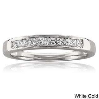 Montebello 14KT White or Yellow Gold 1/4ct TDW Diamond Wedding Band