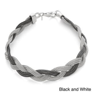 Gioelli Sterling Silver Mesh Braided Bracelet