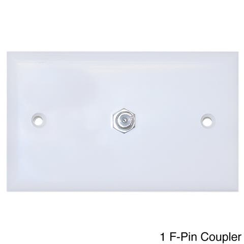 Offex TV Wall Plate with 2 F-Pin Couplers