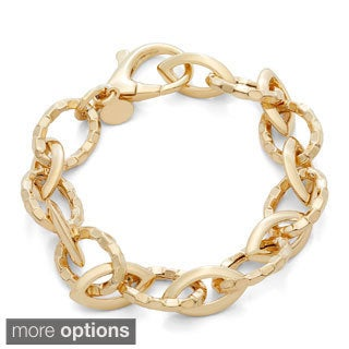 Gioelli Sterling Silver Bold Hollow Oval Chain Bracelet