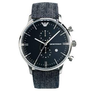 Emporio Armani Men's AR1690 'Retro' Denim Band Watch|https://ak1.ostkcdn.com/images/products/9048741/Emporio-Armani-Mens-AR1690-Retro-Denim-Band-Watch-P16245567.jpg?impolicy=medium
