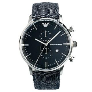 Emporio Armani Men's AR1690 'Retro' Denim Band Watch