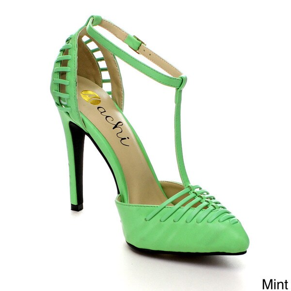 Shop Machi Finder-2 Women Ankle T-Strap Pointy Toe Prom Party Pump ... f8ff0fd72962