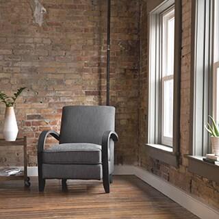 Bloomington Smoke Linen Arm Chair