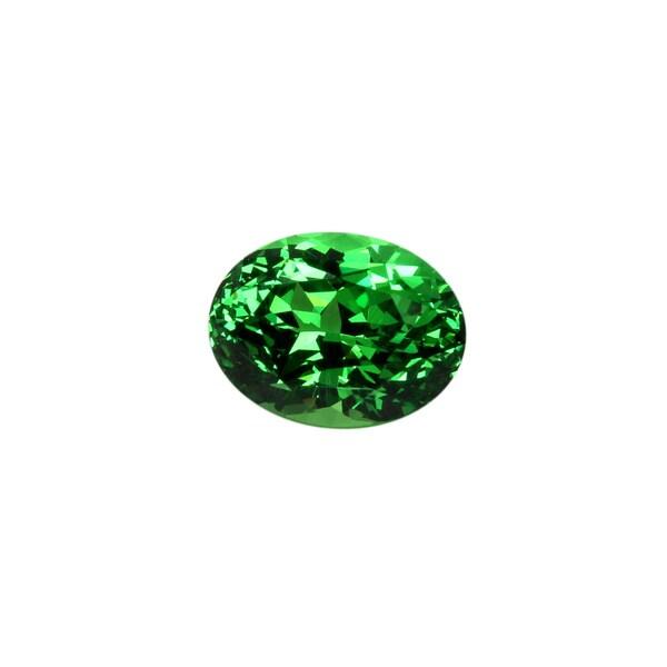 Oval-cut 6.36x8.45mm 2ct TGW Green Tsavorite Stone